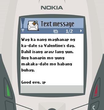 Text Message 11866: Wag maghanap ng ka-date in Nokia 6600