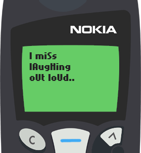 Text Message 3: I miss you friend in Nokia 5110