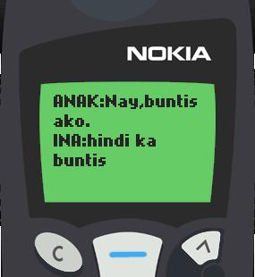 Text Message 4: Nay, buntis ako in Nokia 5110