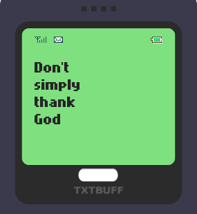 Text Message 12: Be a blessing to someone in TxtBuff 1000