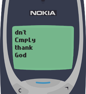 Nokia 3310 Text Message 12: Be a blessing to someone