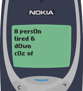 Text Message 17: Why so many hills and mountains to climb in life? in Nokia 3310