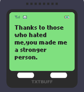 Text Message 18: Thanks to those who… in TxtBuff 1000