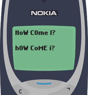 Text Message 27: How come I? in Nokia 3310