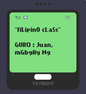 Text Message 28: Tayutay in TxtBuff 1000