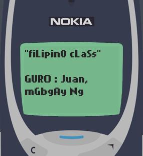 Text Message 28: Tayutay in Nokia 3310