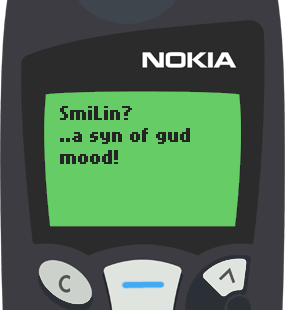 Text Message 45: A sign in Nokia 5110