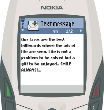 Text Message 47: Ads of life in Nokia 6600