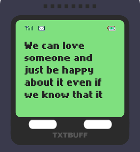 Text Message 52: Whatever relationship you have in TxtBuff 1000
