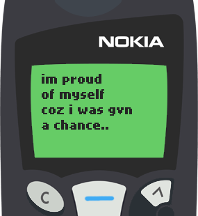 Text Message 65: To meet a person like you in Nokia 5110