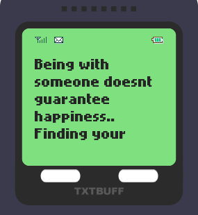 Text Message 84: If that love is meant for you in TxtBuff 1000