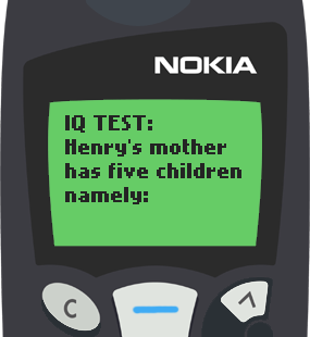 Nokia 5110 Text Message 1912: Henry's mother
