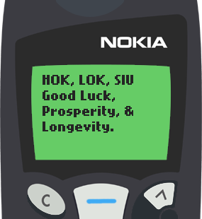 Text Message 2877: Hok Lok Siu in Nokia 5110