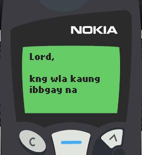 Text Message 2886: Kung walang ka-date ngayong Valentines in Nokia 5110
