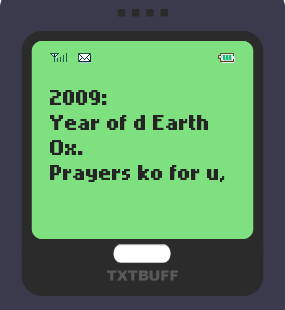 Text Message 5252: Ox na Ox in TxtBuff 1000