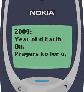 Text Message 5252: Ox na Ox in Nokia 3310