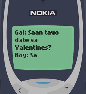 Text Message 9760: Valentines sa sementeryo in Nokia 3310